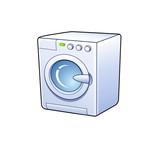 washing machine icon poster