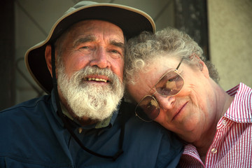 senior couple on the porch