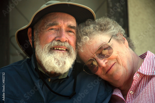 senior couple on the porch