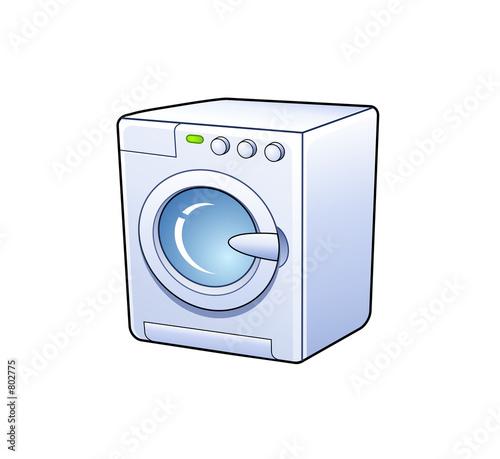 poster of washing machine icon