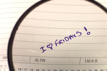 "magnifying ""i love fridays"""