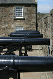 row of cannons at stirling castle poster