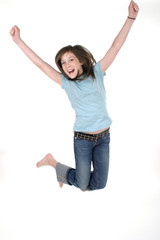 young girl jumping 2