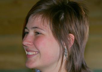 visage de femme de profil