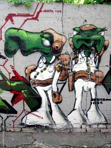 Gamesageddon Graffiti D Extraterrestres Disco Lizenzfreie Fotos