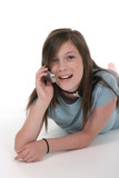 young teen girl talking on cellphone 11 poster