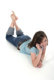 young teen girl talking on cellphone 6 poster