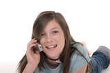 young teen girl talking on cellphone 10 poster
