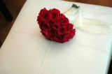 a bouquet of red roses poster