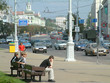 hauptstrasse in minsk - traffic