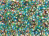 abstract circle  88 poster