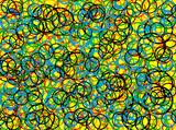 abstract circle  89 poster