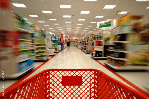 Deurstickers Boodschappen shopping blur 2