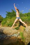jumping girl poster