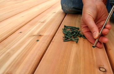 screwing decking