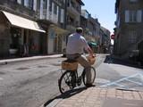 le cycliste téléphonant poster