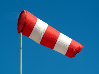wind sock and blue sky