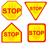 stop sign 12 poster