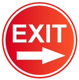 exit sign  9 poster