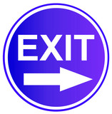 exit sign 7 poster