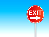 exit sign 4 poster