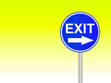 exit sign 3 poster