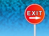 exit sign 1 poster