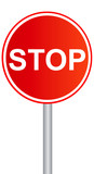 traffic stop sign graphic poster