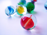 coloured marbles poster