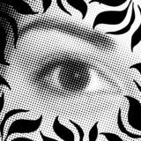 halftone eye poster