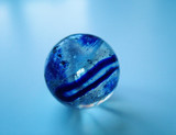 clear blue glass marble ball poster