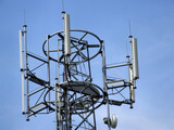 cell tower top antennae poster