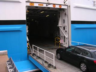car boarding ferry