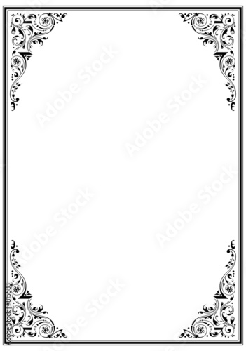 canvas print picture frame with ornament 03