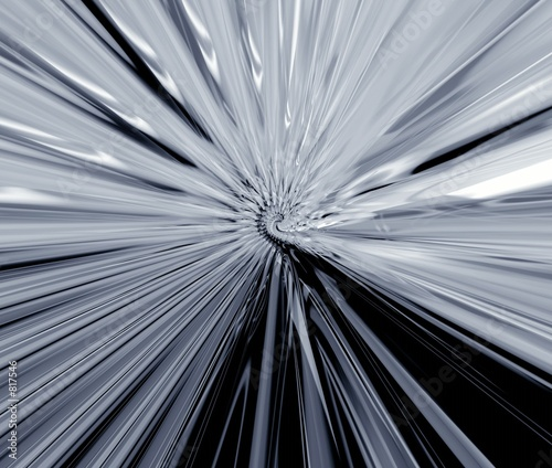 poster of grey metallic rays