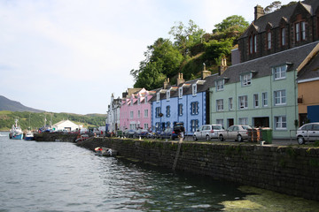 portree isle of skye, scotland