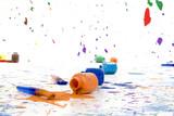 spilt paint poster