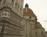 dome of the basilica duomo, florence poster