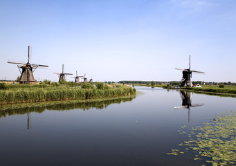 dutch windmills in kinderijk 6