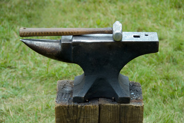 blacksmith's hammer and anvil