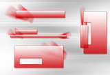 simple red logoset poster