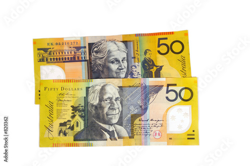 poster of $50 notes