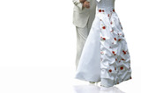 bride and  groom isolated poster