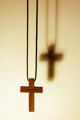 bright wood cross