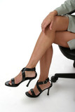 distracting legs in business office 1 poster
