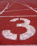 athletic surface markings -- number three poster