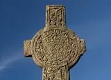 engraved celtic cross funeral poster