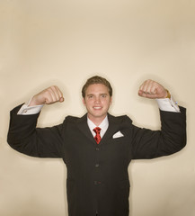 business man power pose 7