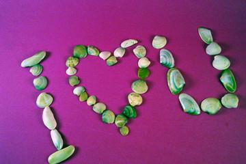 love u writing with seashells