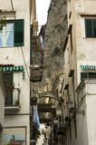 typical narrow street of italy poster